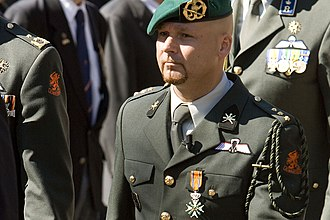 Marco Kroon - Marco Kroon with the Military William Order in 2009