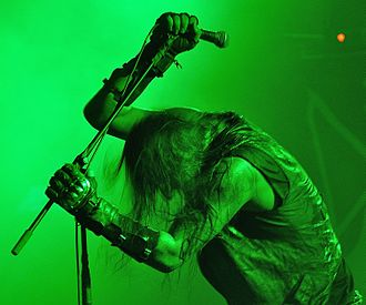 "Marduk (band) - Vocalist Daniel ""Mortuus"" Rostèn in 2015"