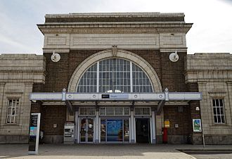 Margate railway station - Image: Margate railway station entrance Margate Kent England