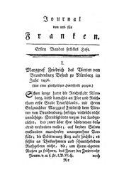 Marggraf Friedrich des Vierten von Brandenburg Besuch zu Nürnberg im Jahr 1496, S. 617-640