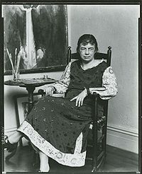 Marguerite Zorach, American painter and printmaker, 1887-1968, in her studio.jpg