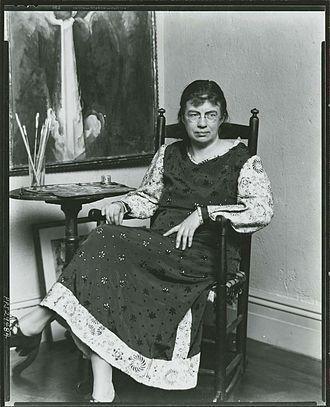 Marguerite Zorach - Marguerite Zorach in her studio