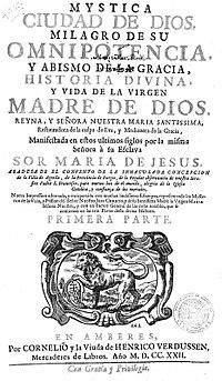 Maria de Jesus de Agreda - frontispiece