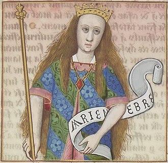 Mariamne I - Miniature detail from the collection De mulieribus claris, by Giovanni Boccaccio