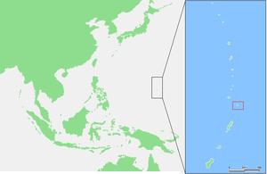 Farallon de Medinilla - Image: Mariana Islands Farallon de Medinilla