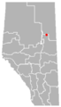Mariana Lakes, Alberta Location.png