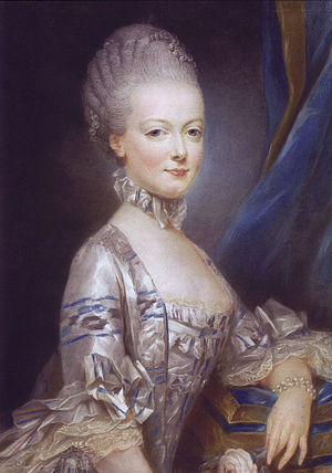 Joseph Ducreux - Marie Antoinette, in 1769; this portrait was sent to the Dauphin, so he could see his bride before he met her.