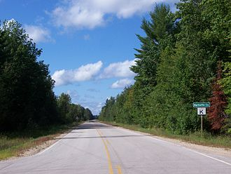Marinette County, Wisconsin - Entering Marinette County at the Menominee River