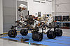 The assembled Curiosity rover at the Jet Propulsion Laboratory