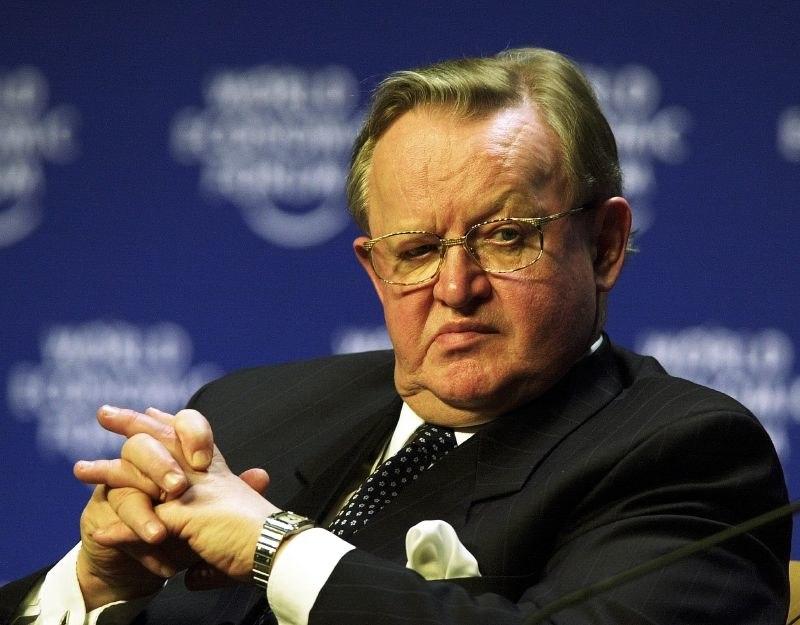 Martti Ahtisaari at the World Economic Forum