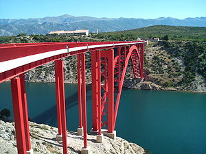 Maslenica - The rebuilt Maslenica Bridge.