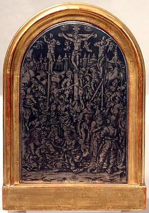 Maso Finiguerra - Niello pax with the Crucifixion, Bargello