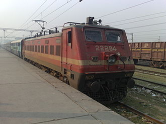 Mathura Junction railway station - 12403 Allahabad Mathura Express at Mathura Junction