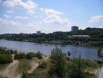 Pripyat River - Pripyat River at Mazyr, Belarus