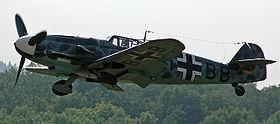 Un Messerschmitt Bf 109-G toujours en état de vol en 2005.
