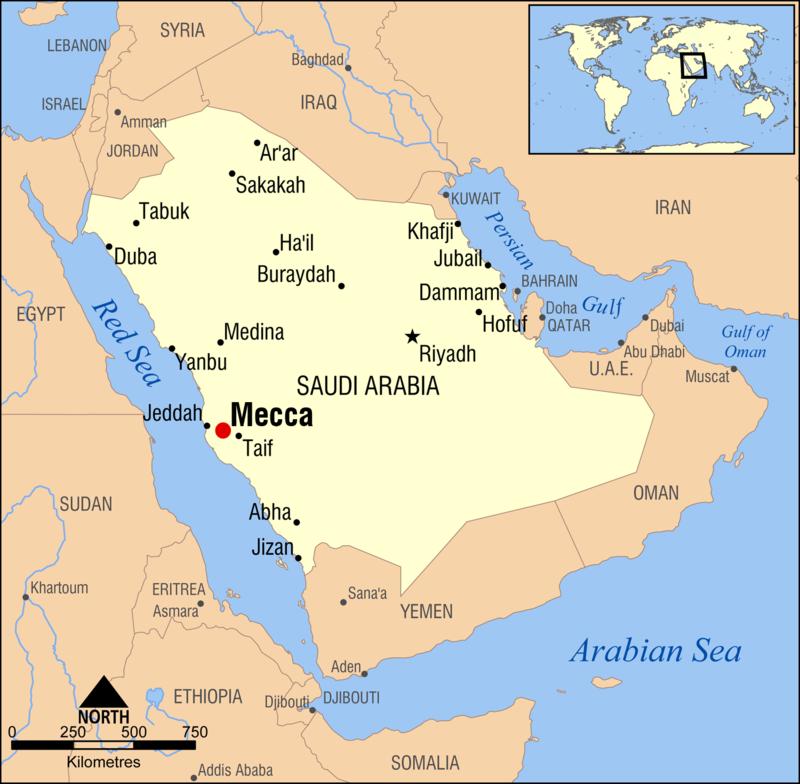 Vị trí của Mecca