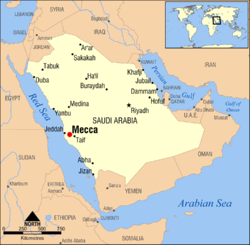 Location of Mecca