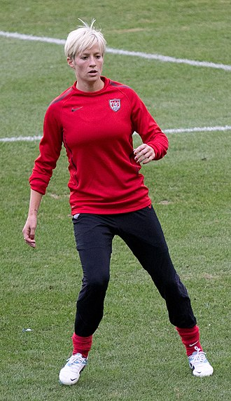 Megan Rapinoe - Rapinoe practicing with the U.S. women's national soccer team in September 2011.