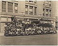 Men posed with trucks outside Frederick & Nelson store on moving day, September 1918 (MOHAI 8684).jpg