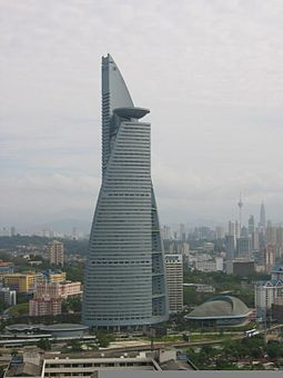 TM Tower is the headquarters of Malaysia's principal telecommunication service provider, Telekom Malaysia. Menara telekom.jpg