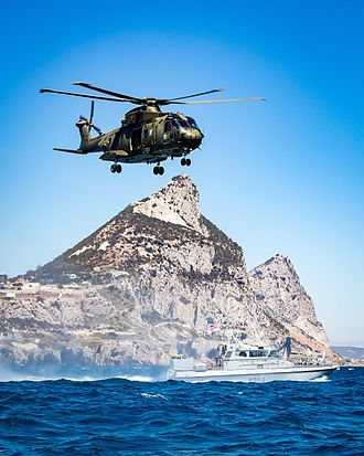 Gibraltar Squadron - Merlin HC3 of 846 NAS with HMS Scimitar