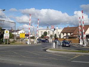 Merrion Gates - Merrion Gates level crossing