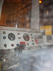Metrocar drivers cab interior, Tyne and Wear Metro depot open day, 8 August 2010 (2).jpg