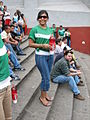 Mexican beauty celebrating at Xalapa, Veracruz, the national soccer team victory over Iran's team.jpg