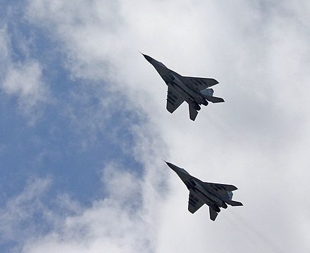 Serbian Air Force MiG-29 fighters MiG-29 RV i PVO VS - Odbrana slobode 2019 Nis 5.jpg