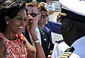 Michelle Obama thanks sailors for their service and hard work, 2009.jpg