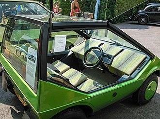 Microdot (car) - Image: Microdot Interior