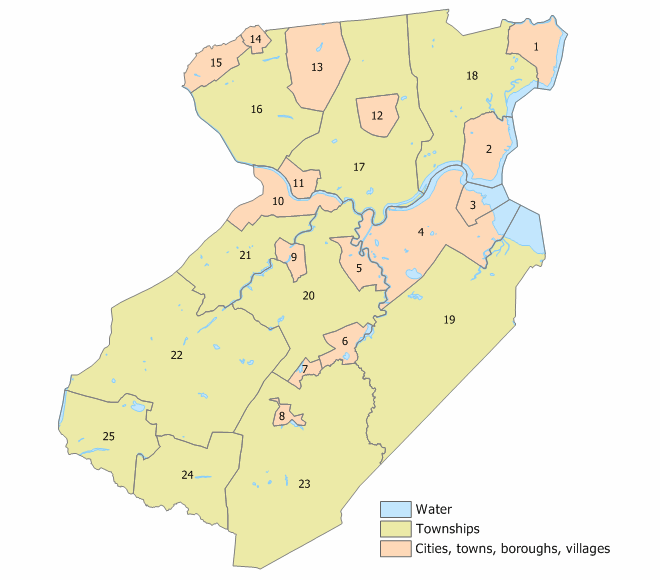 Middlesex County, New Jersey Municipalities