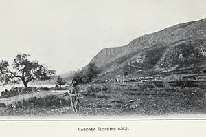 Al-Majdal, Tiberias - A view of Al-Majdal in 1903 when looking toward the southwest