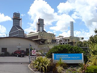 Micro combined heat and power - A Mighty River Power cogeneration plant in the Southdown industrial suburb of Auckland, New Zealand.