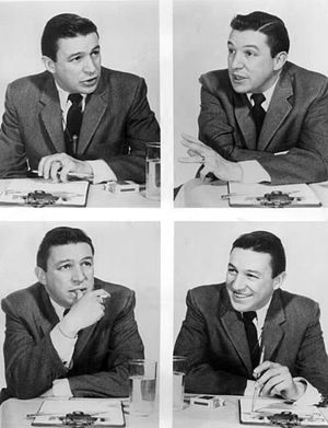 The Mike Wallace Interview - Wallace in 1957.  This was a promotional photo for the show.