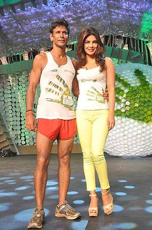 Milind Soman - Image: Milind Soman,Priyanka Chopra From The NDTV Greenathon at Yash Raj Studios (4)