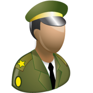 Chief of the Defence Staff (The Gambia) - Image: Military personnel olive green icon