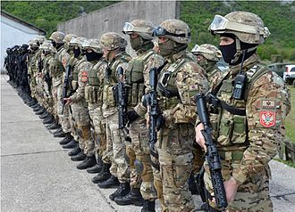 Armed Forces of Montenegro - Members of Special Forces Brigade