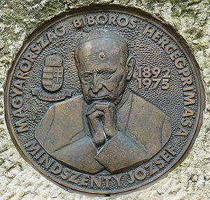 József Mindszenty - József Mindszenty memorial plaque in Budapest, Hungary