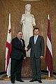 Ministru prezidents Valdis Dombrovskis tiekas ar Gruzijas parlamenta priekšsēdētāju Dāvidu Usupašvili (10668633053).jpg