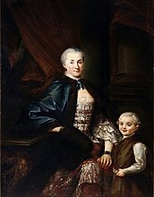 Portrait of Konstancja Poniatowska with her son Michał.