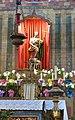 Mission San Juan Bautista (SJB, CA) - church interior, statue of John the Baptist and the Lamb of God, tabernacle.jpg