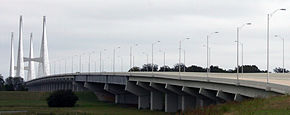 Mississippi River bridge at Greenville MS - Lake Village AR.jpg