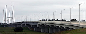 Mississippi River bridge at Greenville MS - Lake Village AR.jpg