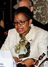 Mmasekgoa Masire-Mwamba addressing panellists crop.jpg
