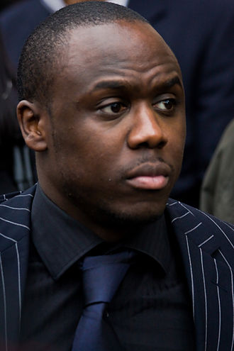 Mohammed George - George in 2009 at Wendy Richard's funeral service