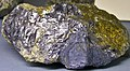 Molybdenite-chalcopyrite (latest Cretaceous to earliest Tertiary, 62-66 Ma; Continental Pit, Butte Mining District, Montana, USA) (18620226073).jpg