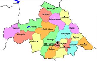 Arkhangai Province - Sums of Arkhangai
