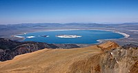 Mono Lake, the dominant geographical feature in Mono County