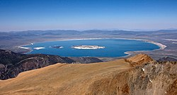 Mono Lake as seen from Mount Dana